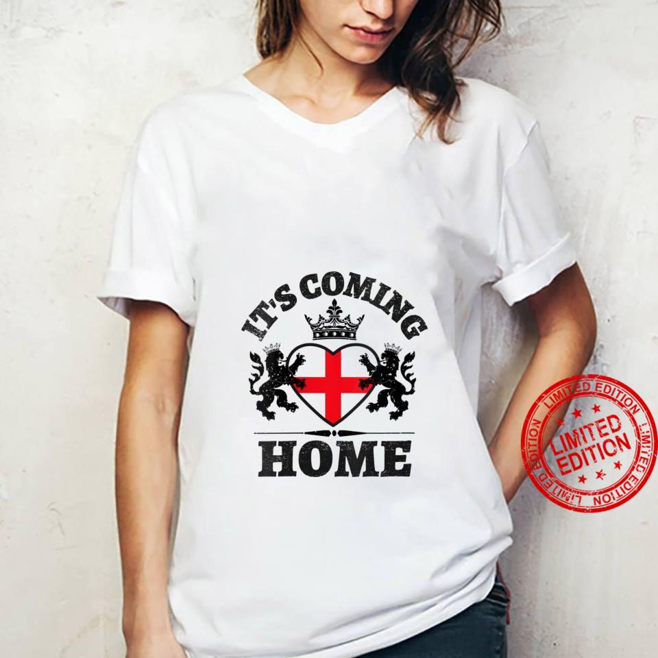 Womens Vintage England Flag Soccer Jerseys It's Coming Home Shirt ladies tee
