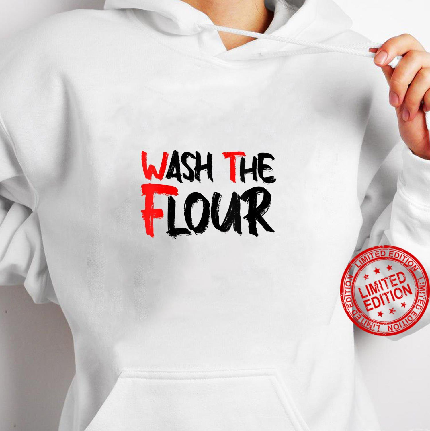 Womens Wash The Flour Super Seitan Appreciation vegan meat Shirt hoodie
