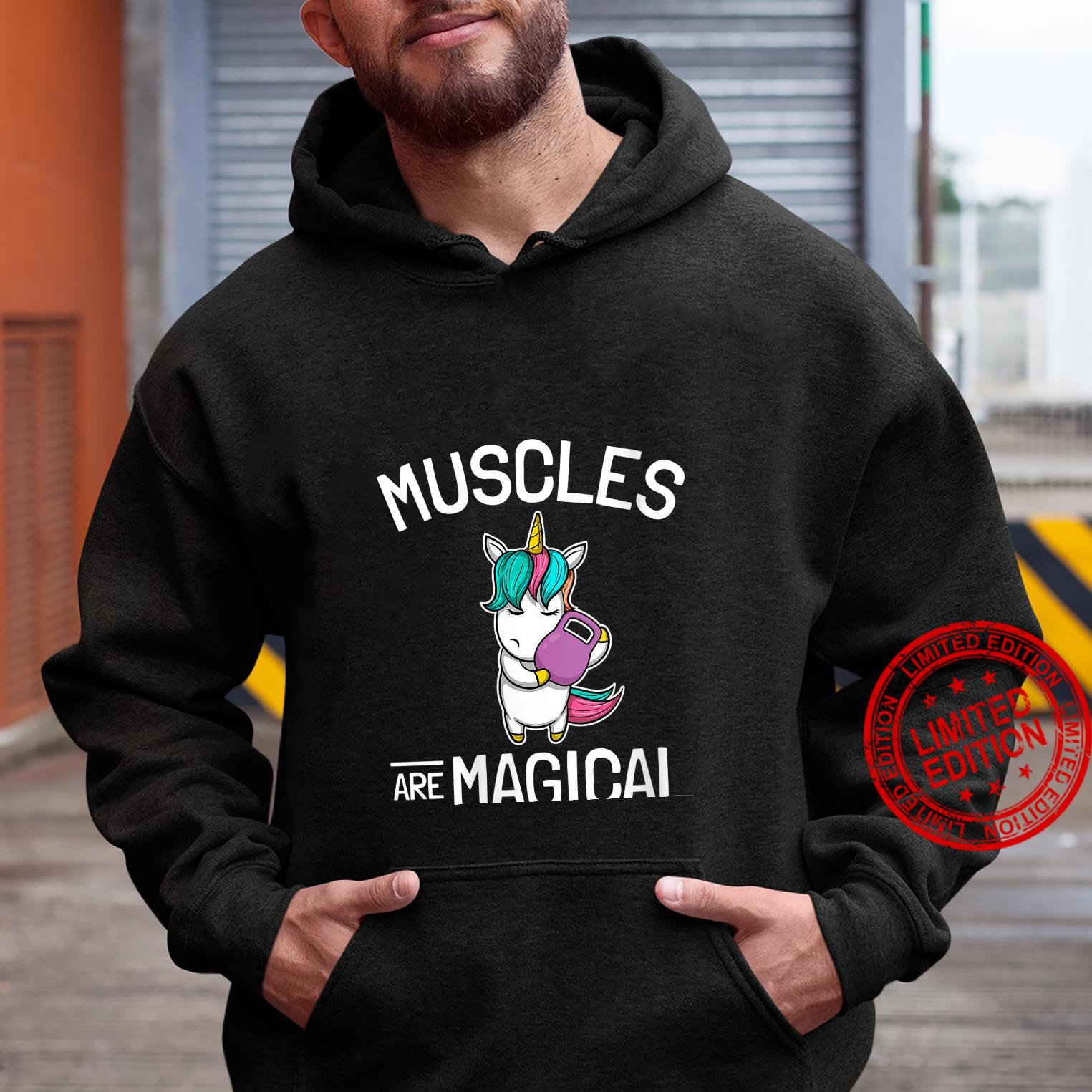Womens Workout & Fitness Saying I Unicorn Muscles Are Magical Shirt hoodie