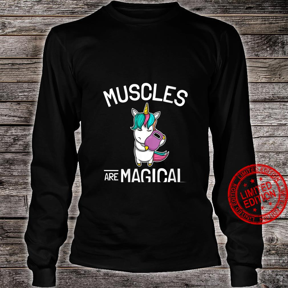 Womens Workout & Fitness Saying I Unicorn Muscles Are Magical Shirt long sleeved