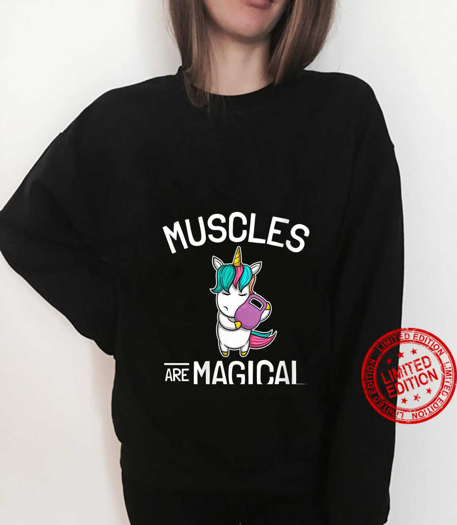 Womens Workout & Fitness Saying I Unicorn Muscles Are Magical Shirt sweater