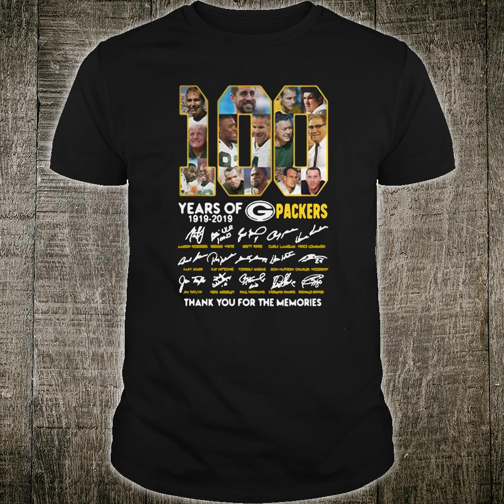 100 years of Packers thank you for the memories autographed shirt