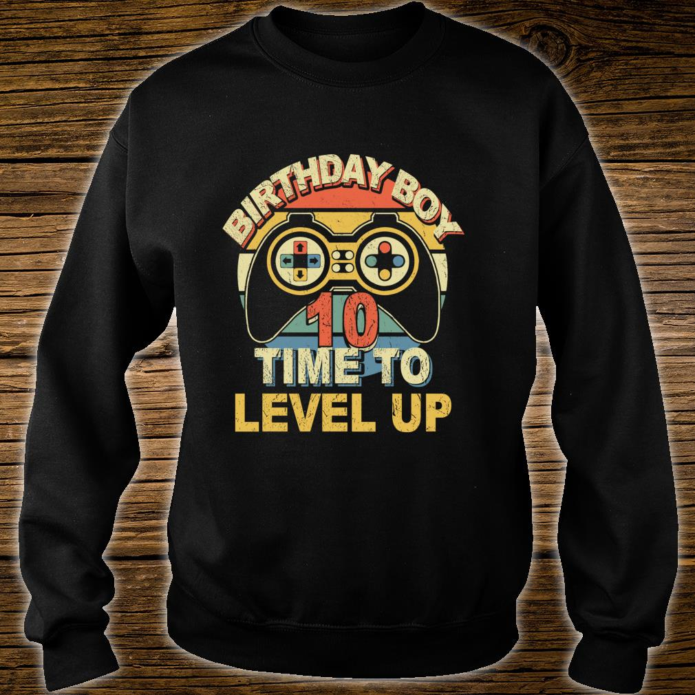 10th Birthday Boy Level 10 Complete for Gamer Shirt sweater