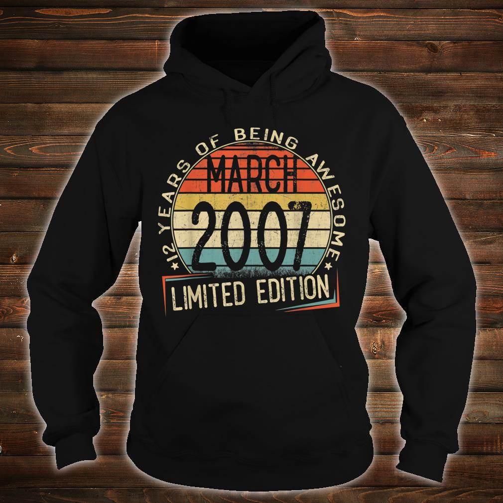 12 years of being awesome march 2007 limited edition shirt hoodie