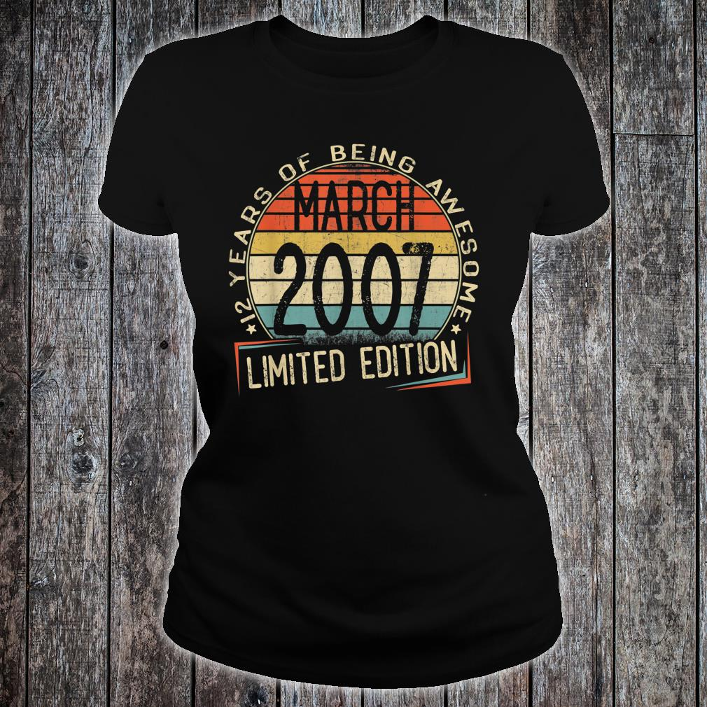 12 years of being awesome march 2007 limited edition shirt ladies tee