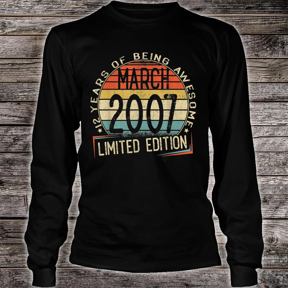 12 years of being awesome march 2007 limited edition shirt long sleeved