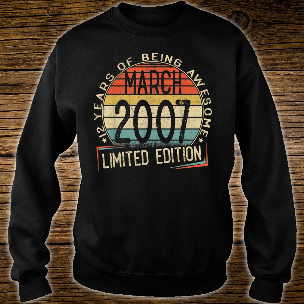 12 years of being awesome march 2007 limited edition shirt sweater