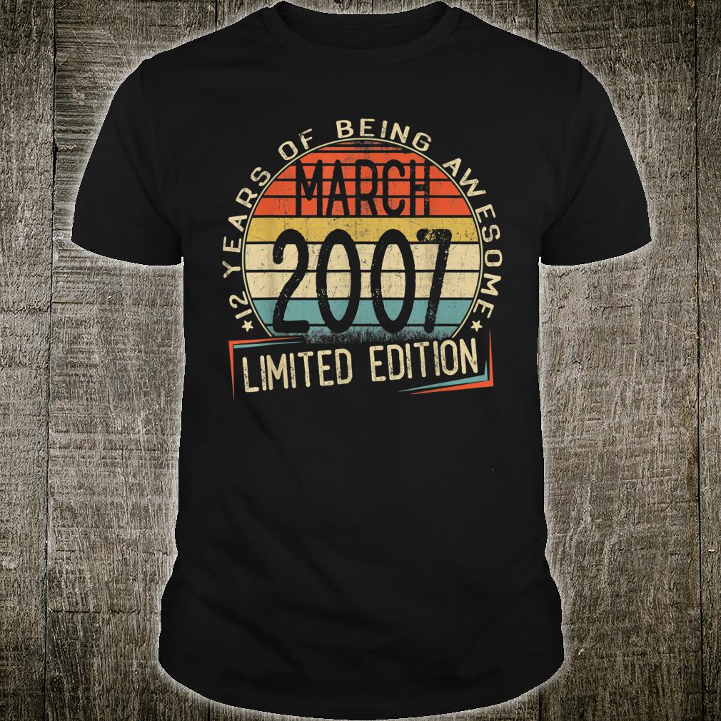 12 years of being awesome march 2007 limited edition shirt