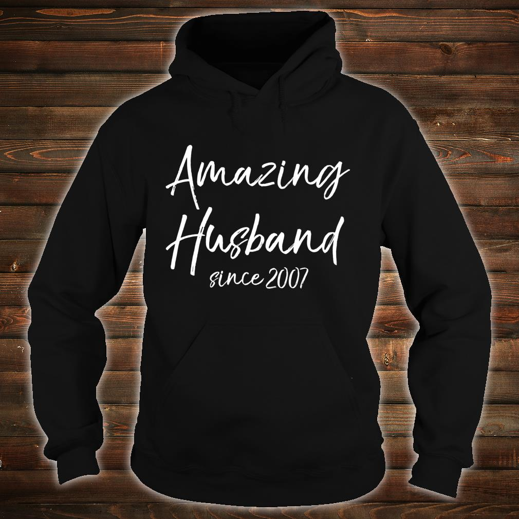 13th Anniversary from Wife Amazing Husband Since 2007 Shirt hoodie