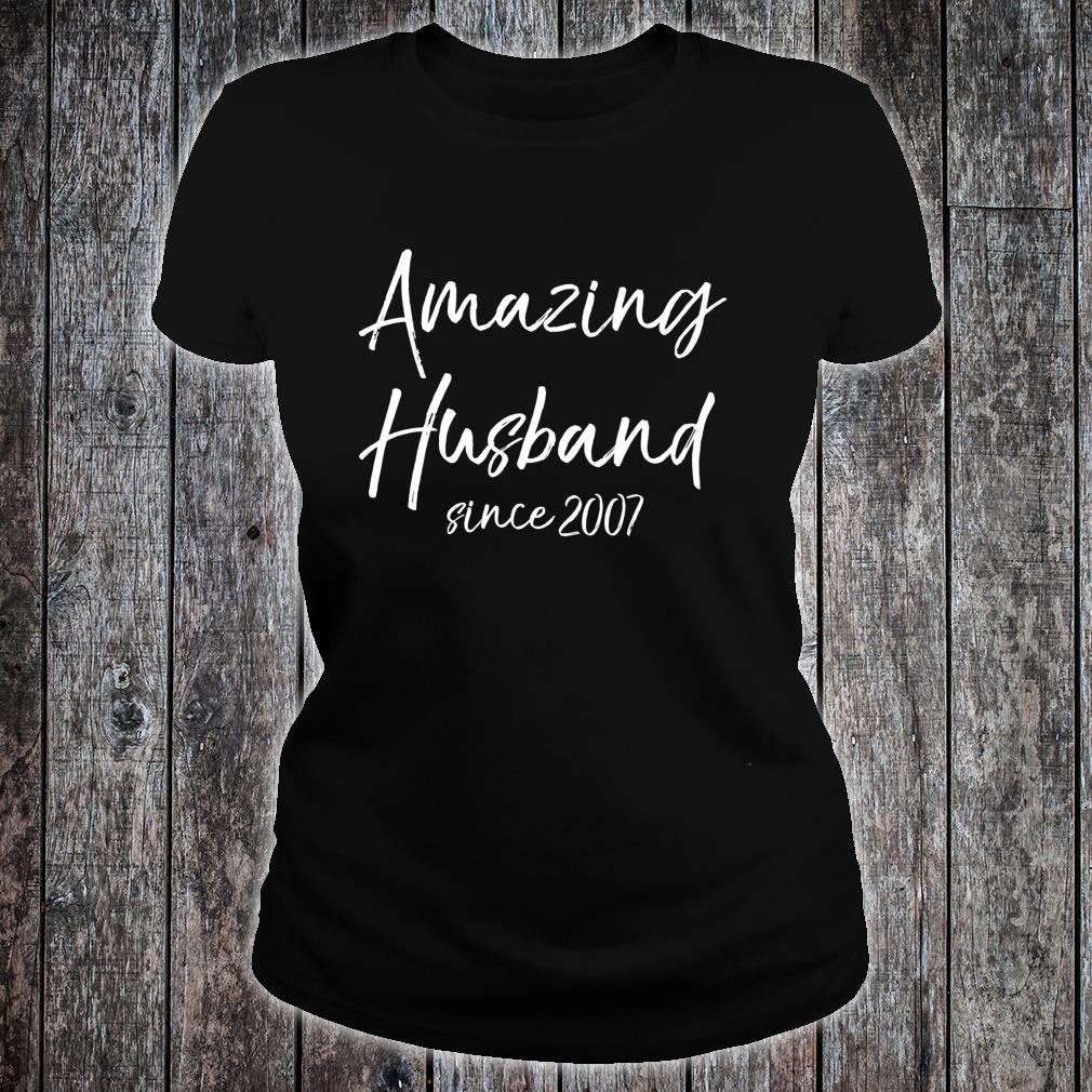 13th Anniversary from Wife Amazing Husband Since 2007 Shirt ladies tee