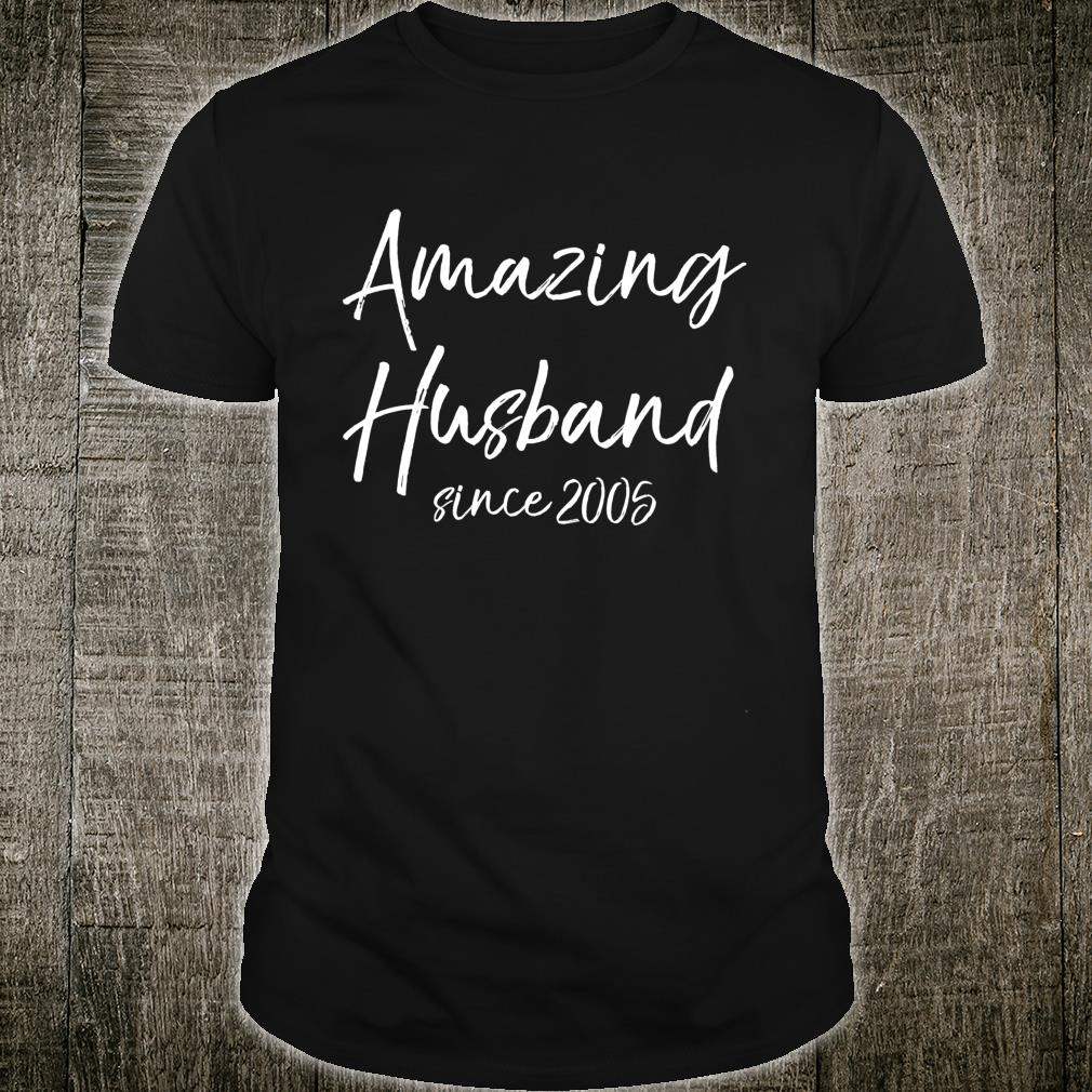 15th Anniversary from Wife Amazing Husband Since 2005 Shirt