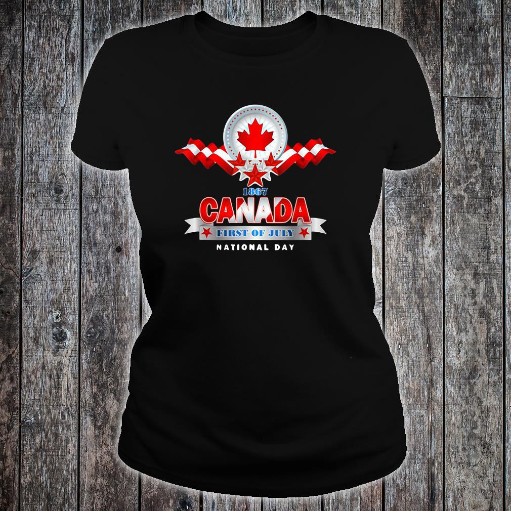 1867 Canada first of July national day shirt ladies tee