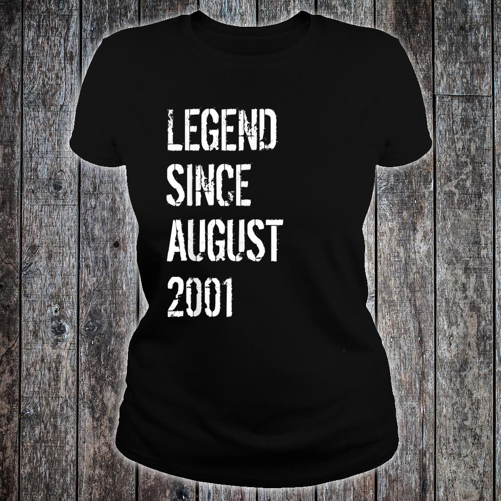 18th Birthday Born in August 2001 Shirt ladies tee