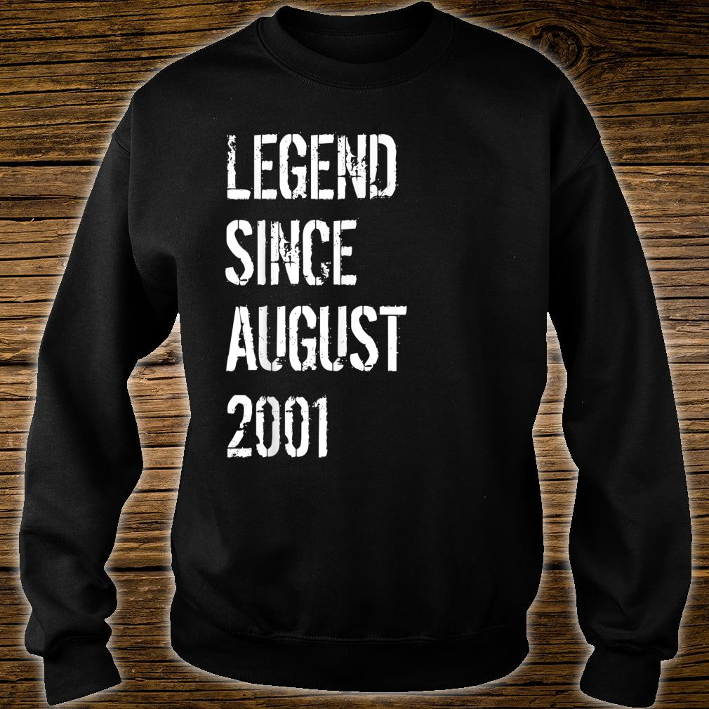 18th Birthday Born in August 2001 Shirt sweater