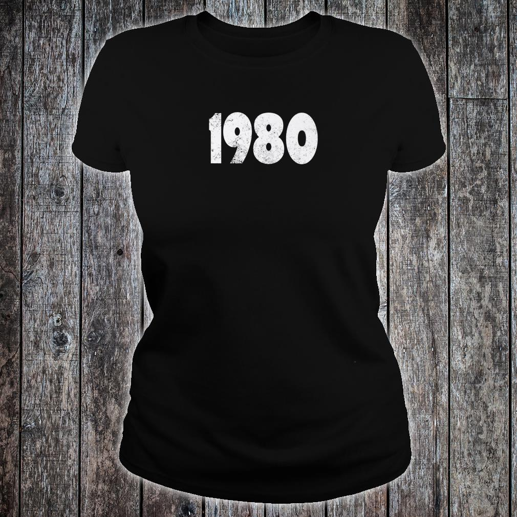 1980 Made in the 1980s 1980 Birthday Shirt ladies tee