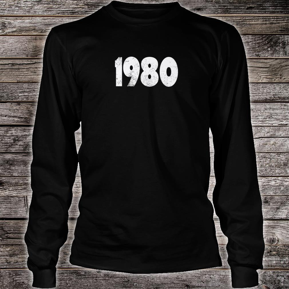 1980 Made in the 1980s 1980 Birthday Shirt long sleeved