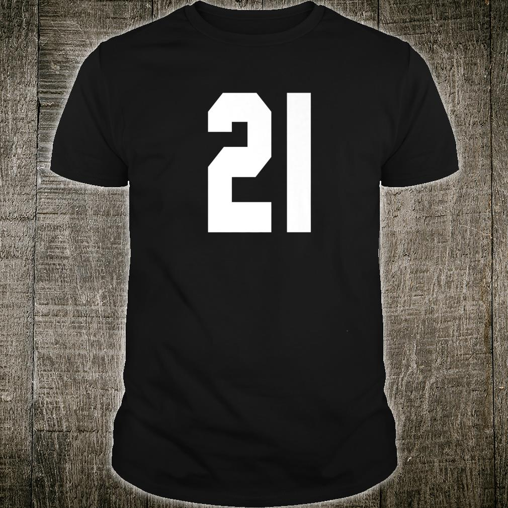 # 21 Team Sports Jersey Front & Back Number Player Fan Shirt