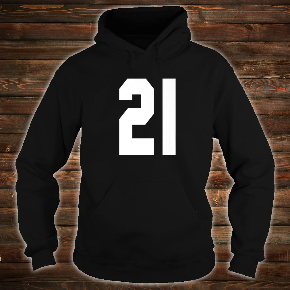 # 21 Team Sports Jersey Front & Back Number Player Fan Shirt hoodie
