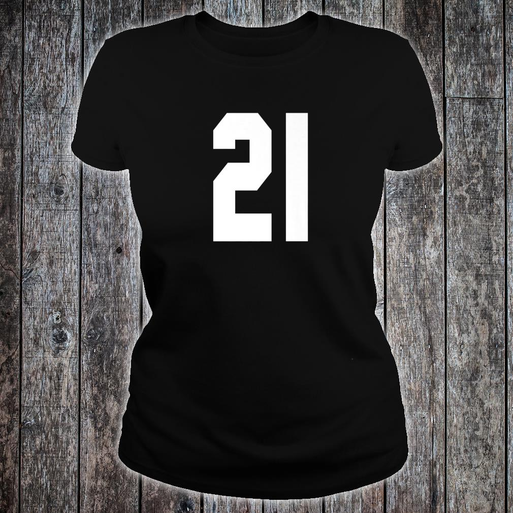 # 21 Team Sports Jersey Front & Back Number Player Fan Shirt ladies tee