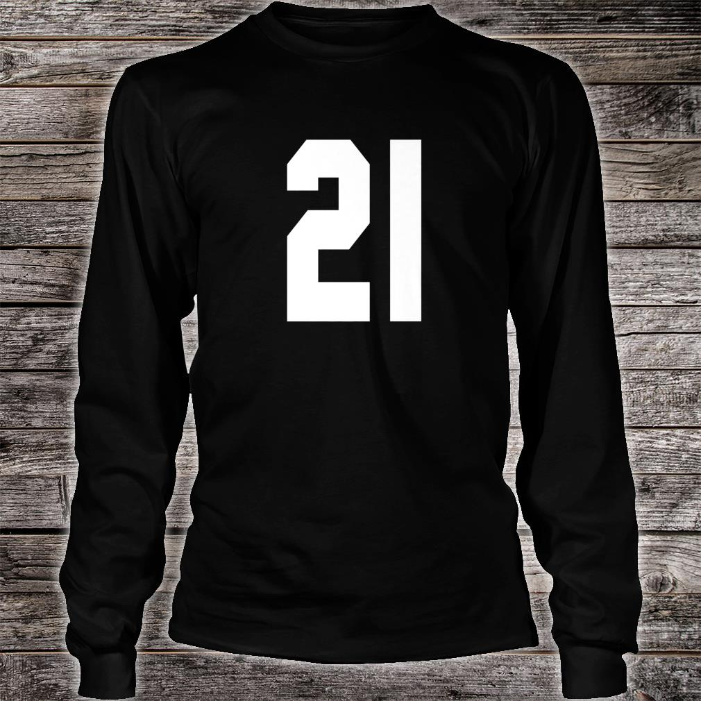 # 21 Team Sports Jersey Front & Back Number Player Fan Shirt long sleeved