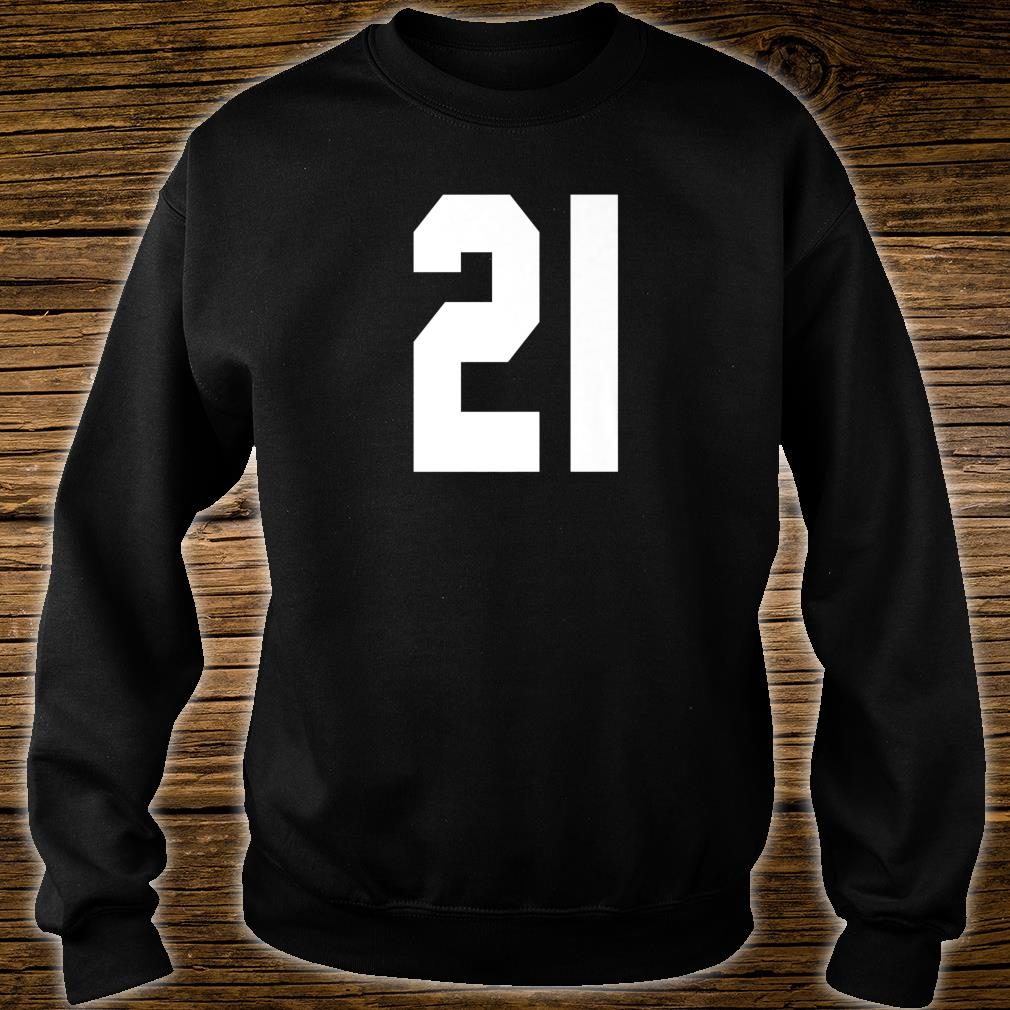 # 21 Team Sports Jersey Front & Back Number Player Fan Shirt sweater