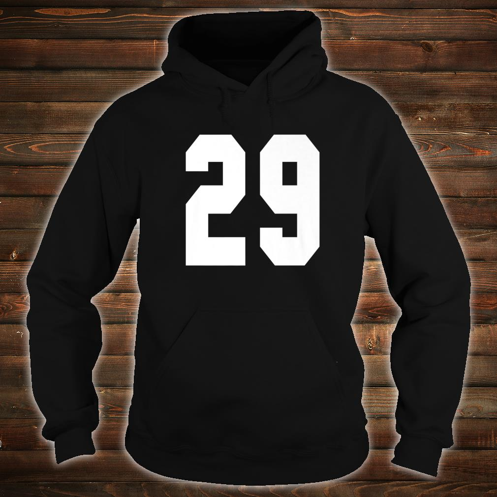 # 29 Team Sports Jersey Front & Back Number Player Fan Shirt hoodie