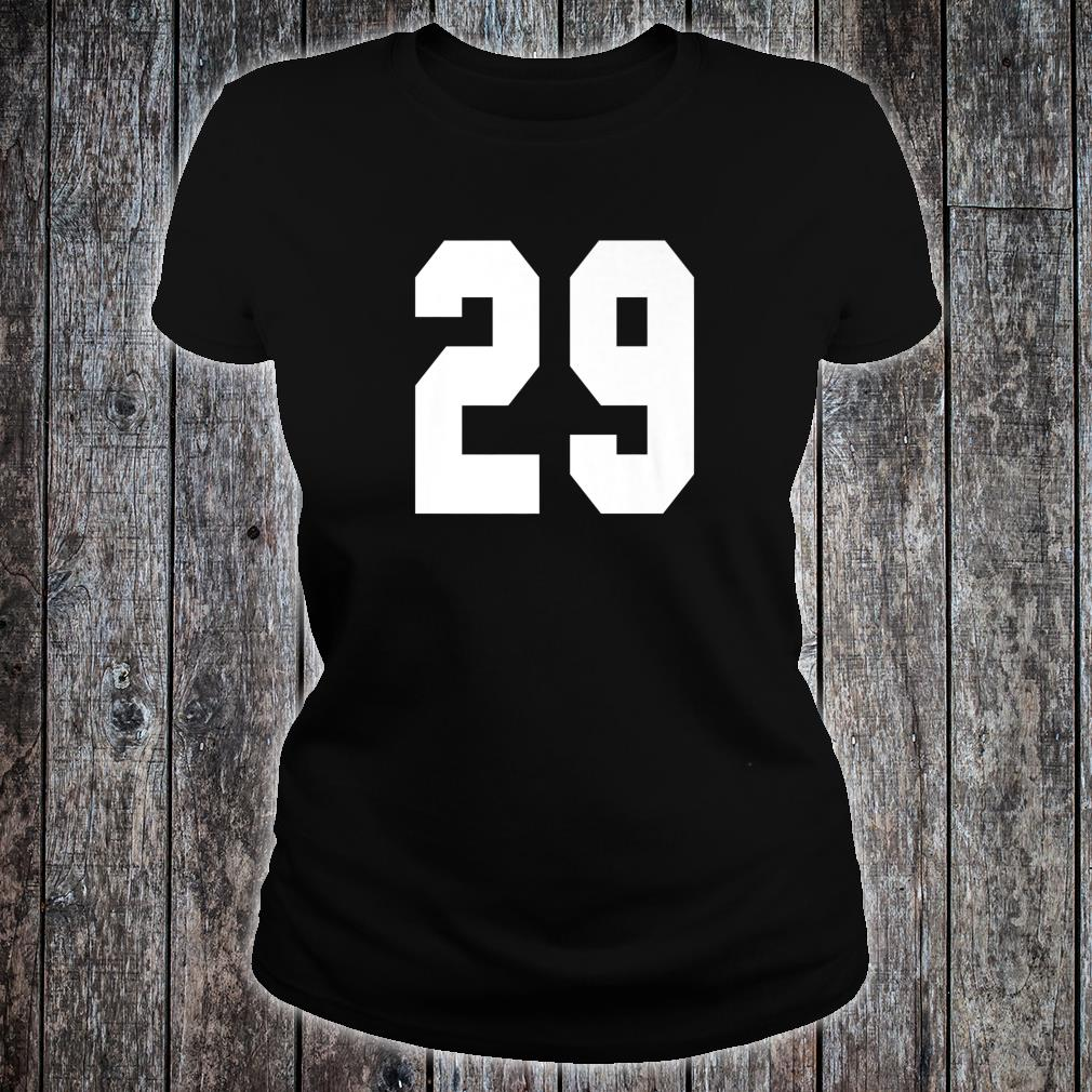 # 29 Team Sports Jersey Front & Back Number Player Fan Shirt ladies tee
