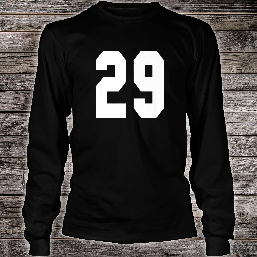 # 29 Team Sports Jersey Front & Back Number Player Fan Shirt long sleeved