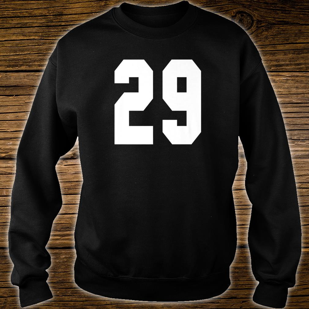 # 29 Team Sports Jersey Front & Back Number Player Fan Shirt sweater