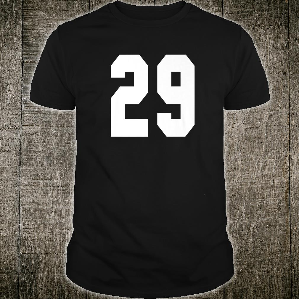 # 29 Team Sports Jersey Front & Back Number Player Fan Shirt
