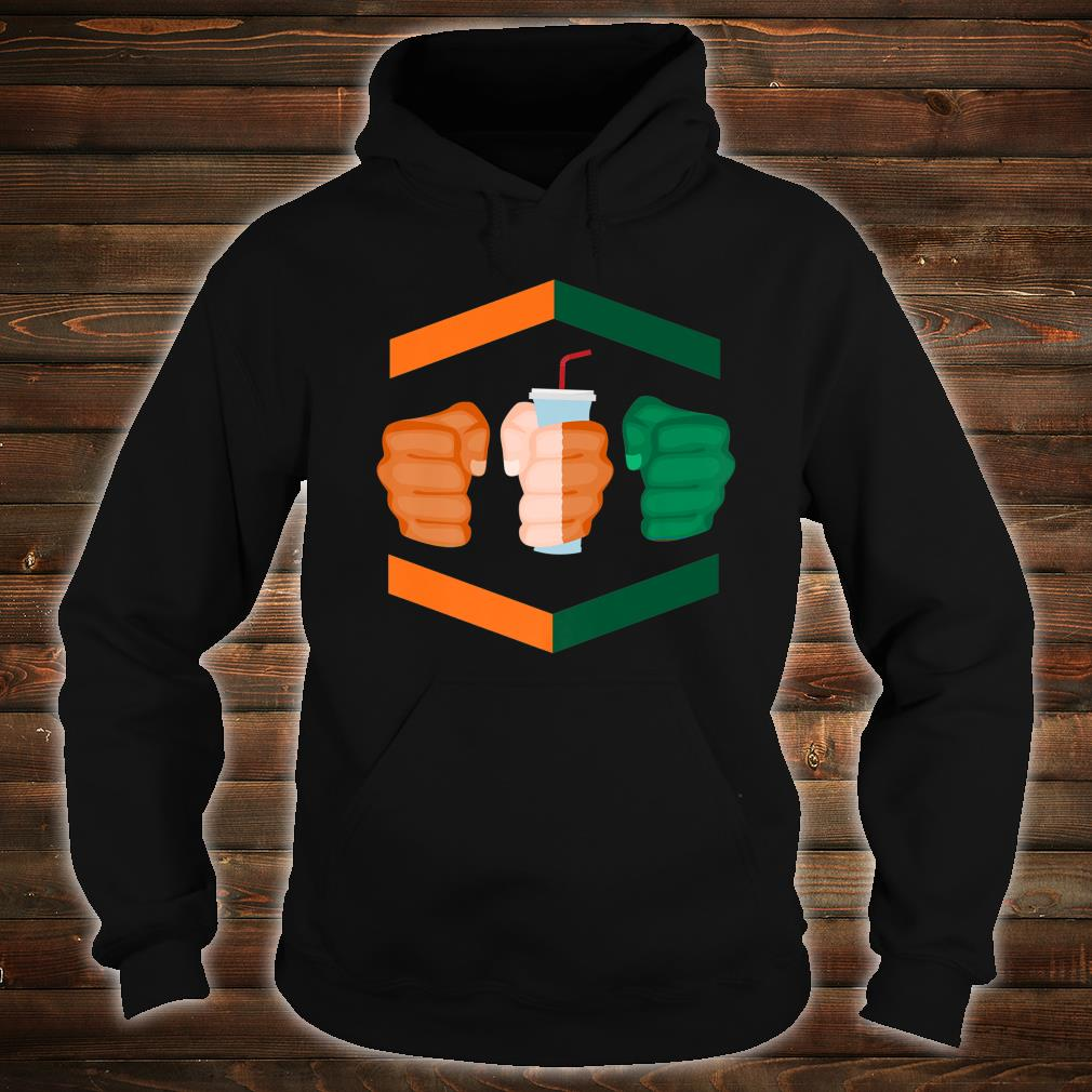 3 Piece and a Soda Gamebred Miami MMA Fighter Quote Fists Shirt hoodie