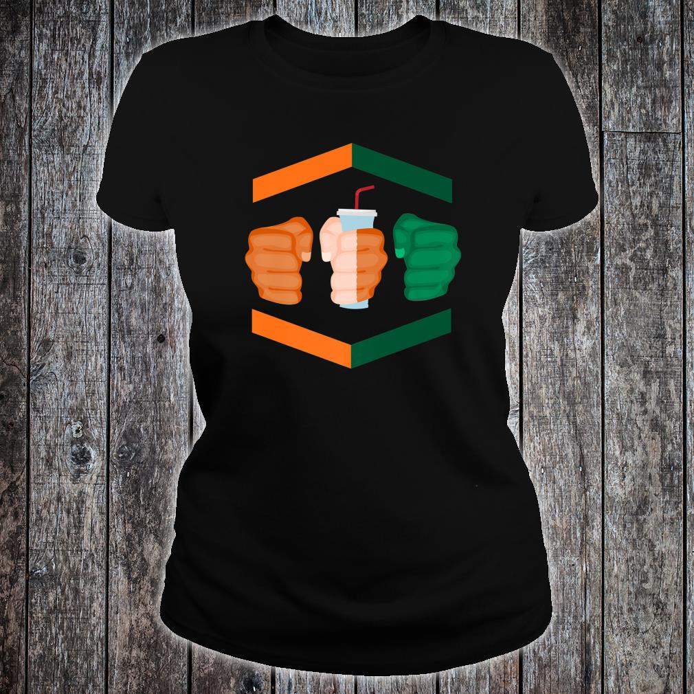 3 Piece and a Soda Gamebred Miami MMA Fighter Quote Fists Shirt ladies tee