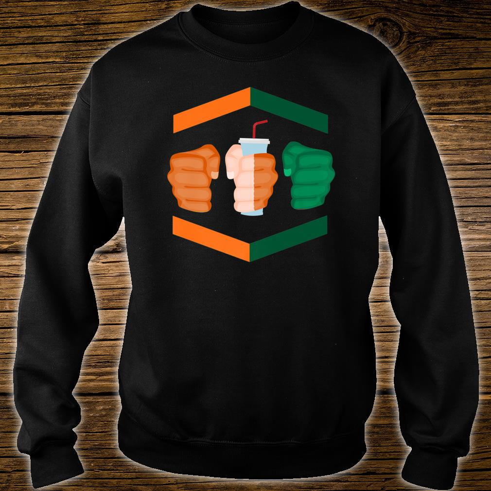 3 Piece and a Soda Gamebred Miami MMA Fighter Quote Fists Shirt sweater