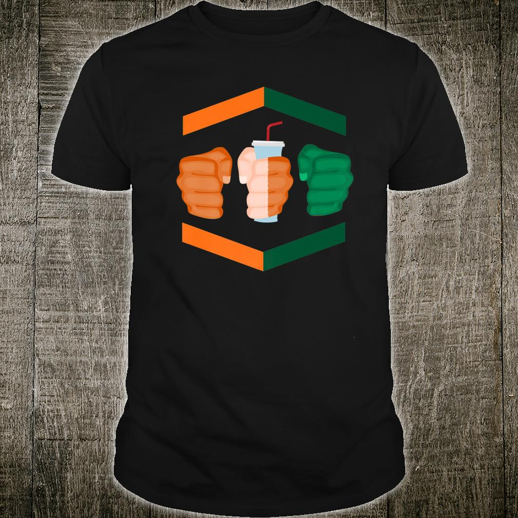 3 Piece and a Soda Gamebred Miami MMA Fighter Quote Fists Shirt
