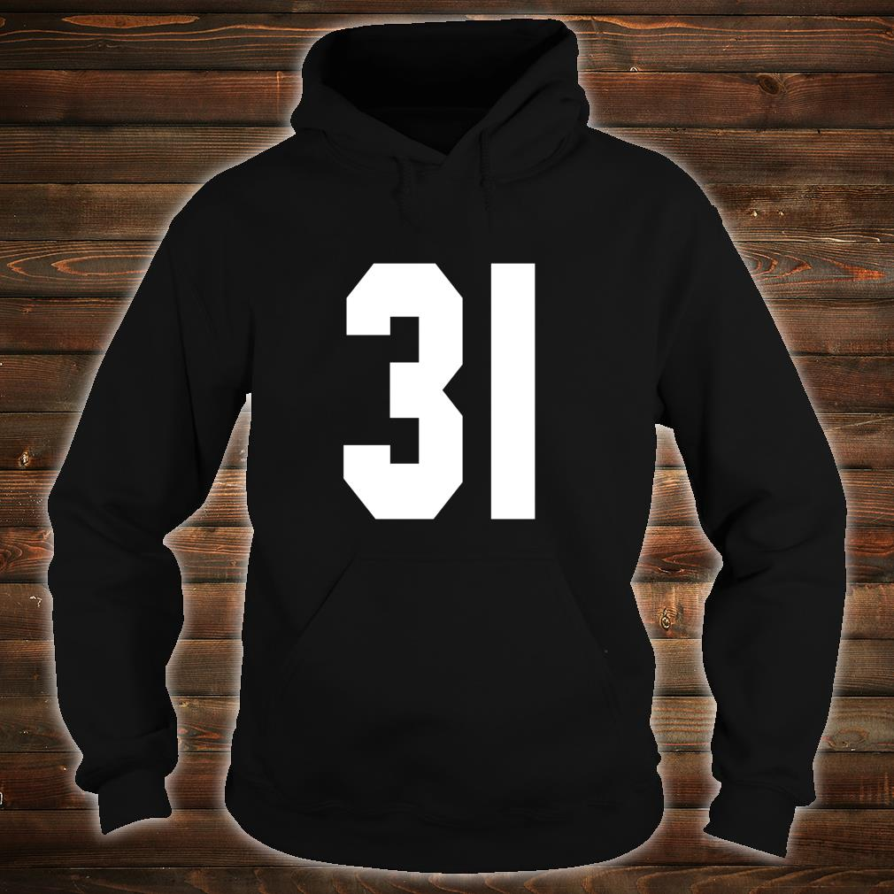 # 31 Team Sports Jersey Front & Back Number Player Fan Shirt hoodie