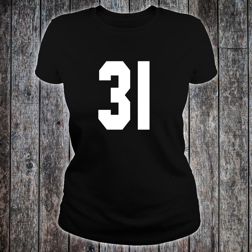 # 31 Team Sports Jersey Front & Back Number Player Fan Shirt ladies tee