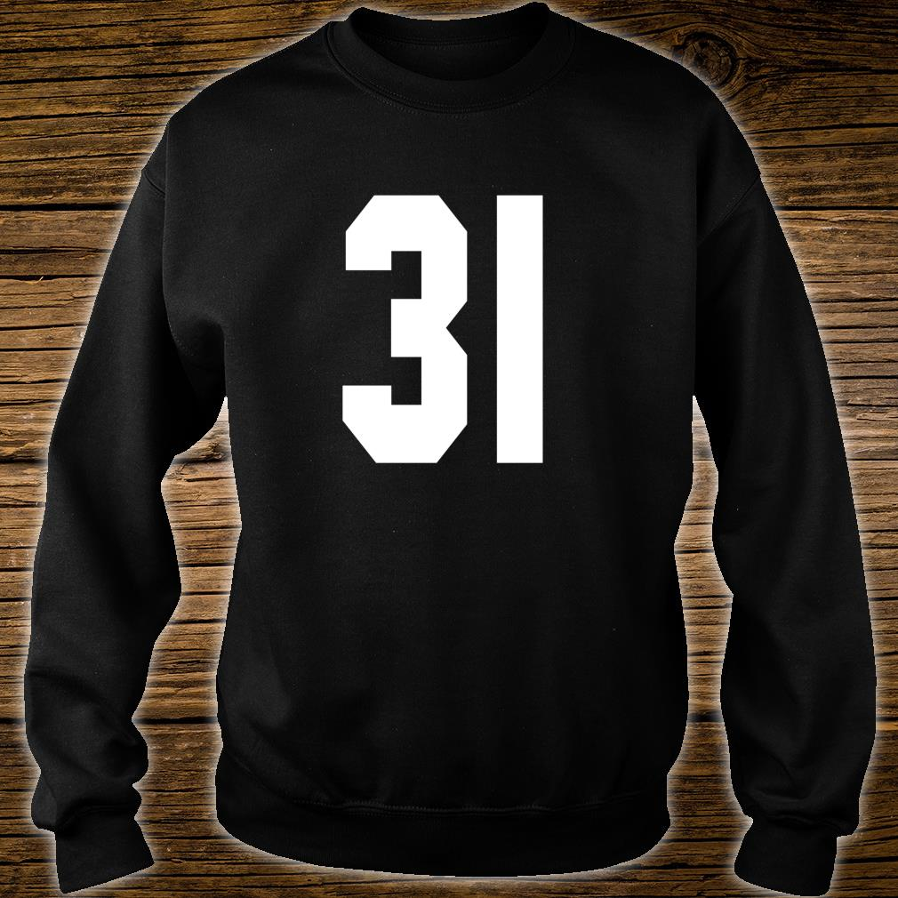# 31 Team Sports Jersey Front & Back Number Player Fan Shirt sweater