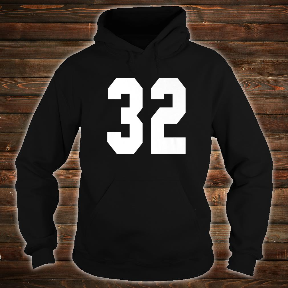 # 32 Team Sports Jersey Front & Back Number Player Fan Shirt hoodie