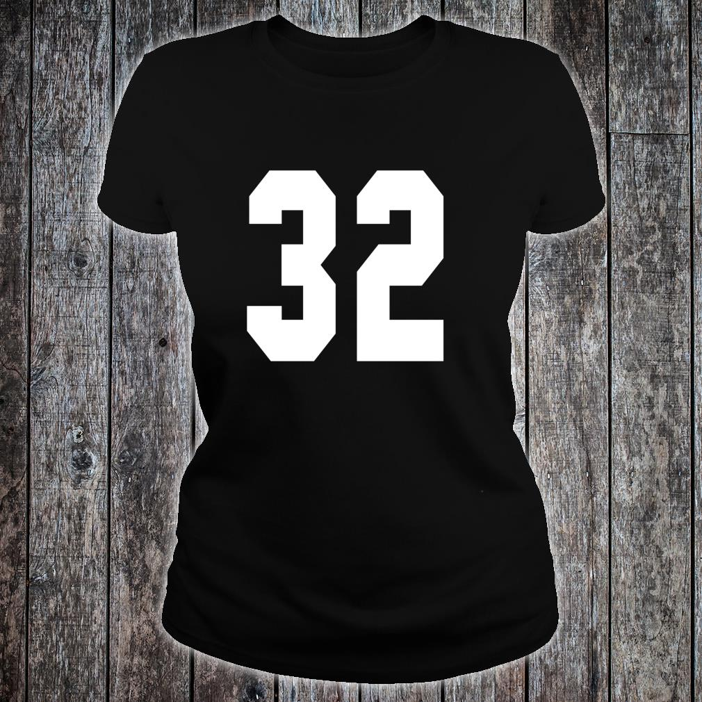 # 32 Team Sports Jersey Front & Back Number Player Fan Shirt ladies tee