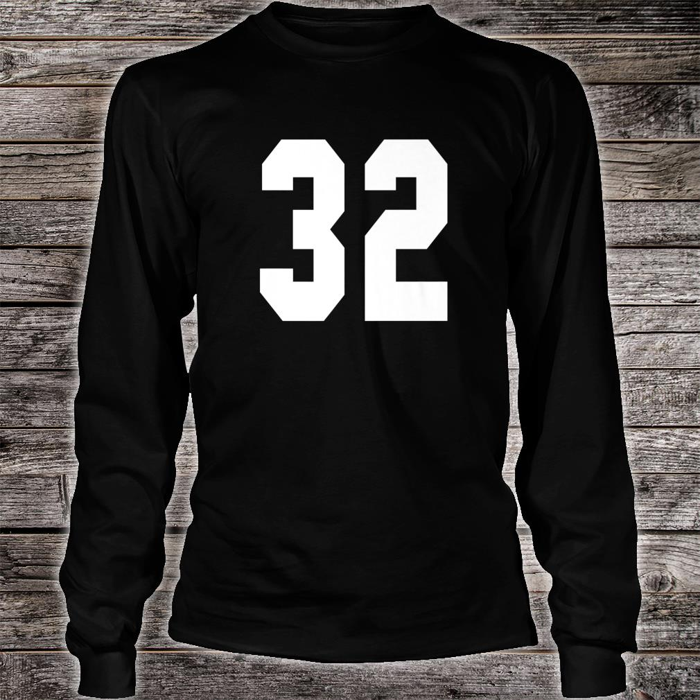 # 32 Team Sports Jersey Front & Back Number Player Fan Shirt long sleeved