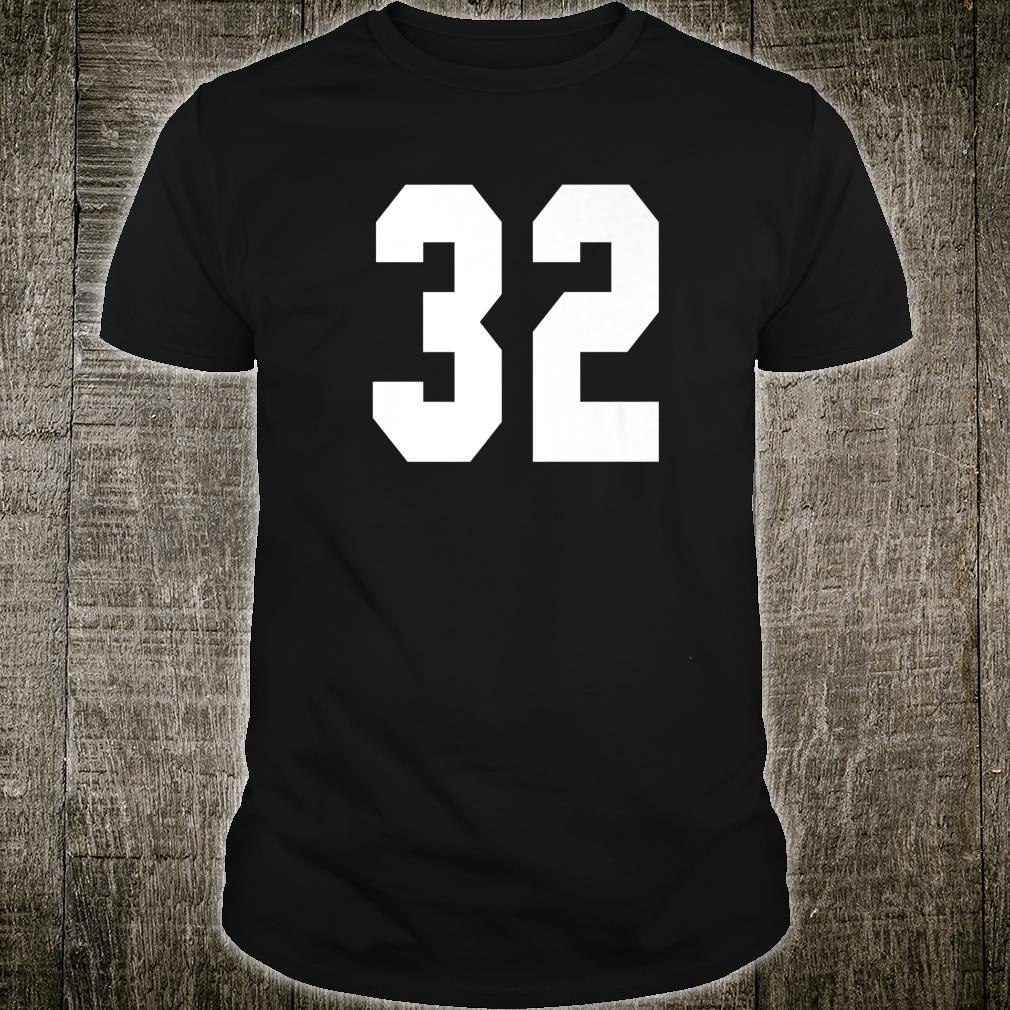 # 32 Team Sports Jersey Front & Back Number Player Fan Shirt