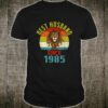 34nd Wedding Anniversary Gifts Husband Since 1985 Shirt