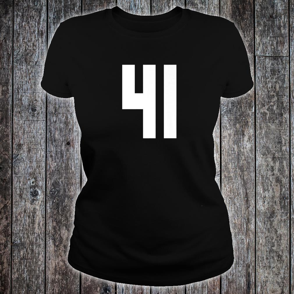 # 41 Team Sports Jersey Front & Back Number Player Fan Shirt ladies tee