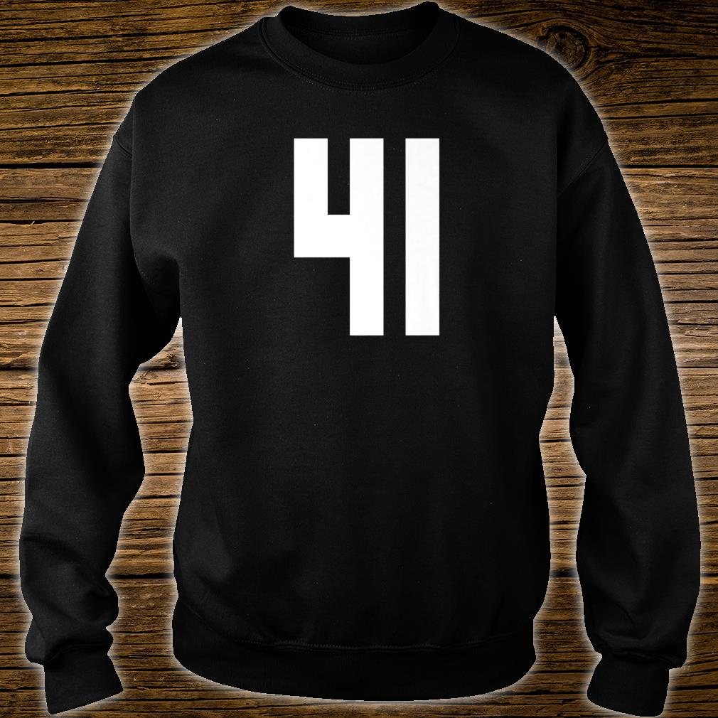# 41 Team Sports Jersey Front & Back Number Player Fan Shirt sweater