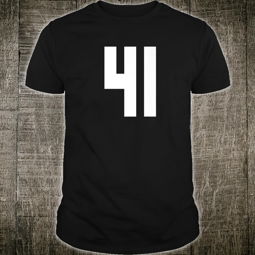 # 41 Team Sports Jersey Front & Back Number Player Fan Shirt