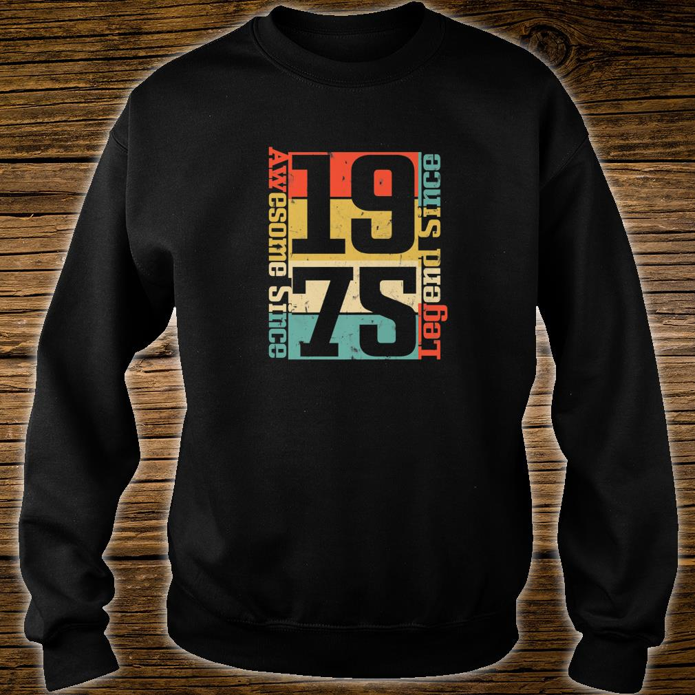 45th Birthday Idea. Awesome Since 1975 Shirt sweater