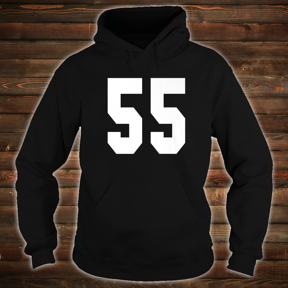 # 55 Team Sports Jersey Front & Back Number Player Fan Shirt hoodie
