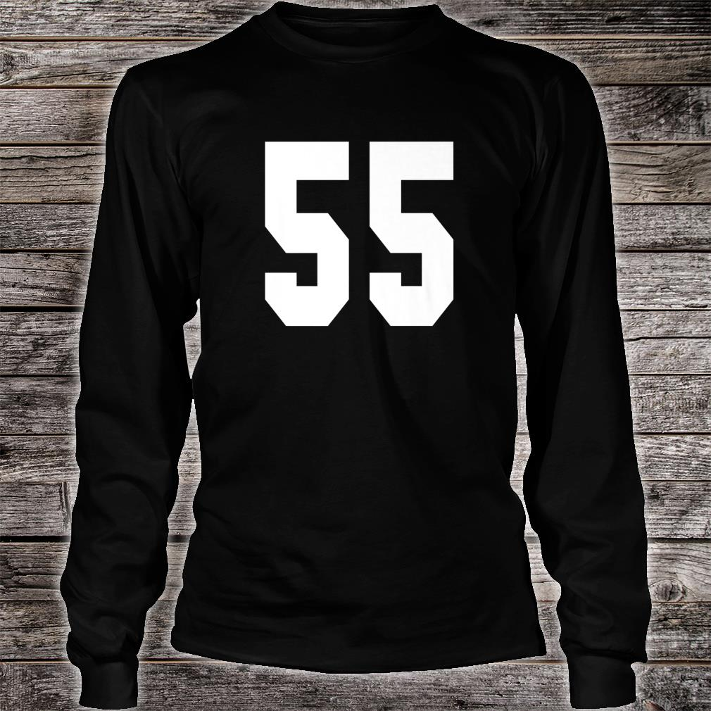 # 55 Team Sports Jersey Front & Back Number Player Fan Shirt long sleeved