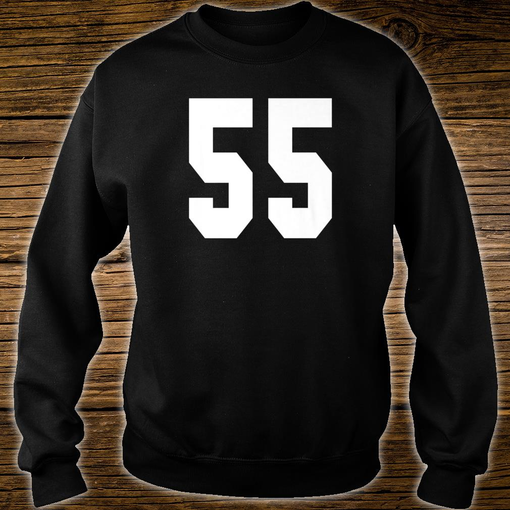 # 55 Team Sports Jersey Front & Back Number Player Fan Shirt sweater
