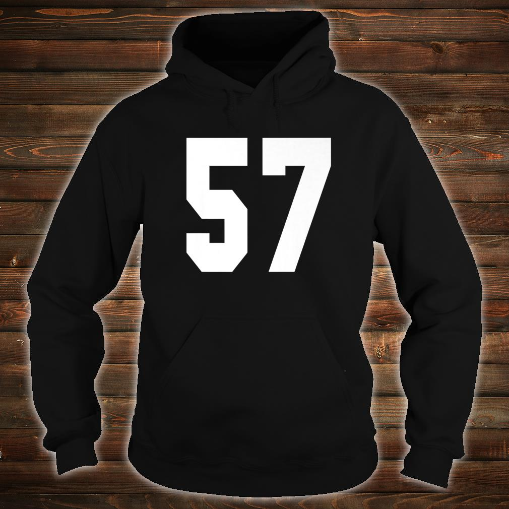 # 57 Team Sports Jersey Front & Back Number Player Fan Shirt hoodie